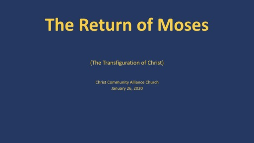 The Return of Moses