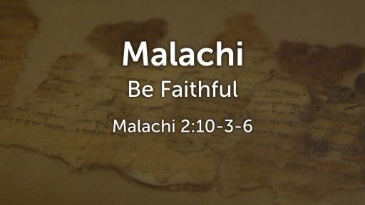 Be Faithful