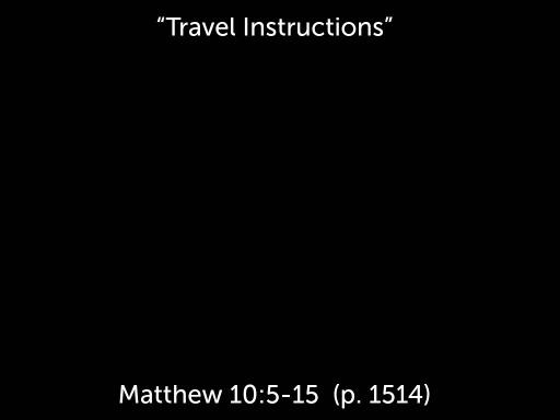 Travel Instructions Faithlife Sermons