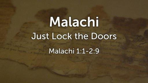 Just Lock the Doors